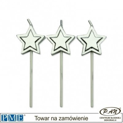Candles- Red Stars- 8pcs-PME_PME_CA015