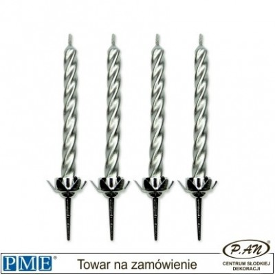 Candles- Silver with separet holders- 10pcs-PME_CA023