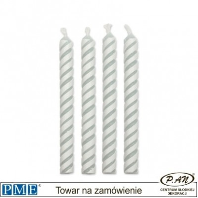 Candles- Stripes- 10pcs-PME_CA021