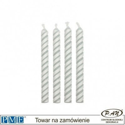 Candles- Striped White- 2.3''-24pcs-PME_CA027