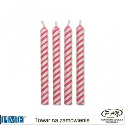 Candles- Striped White- 1.9''-24pcs-PME_CA028