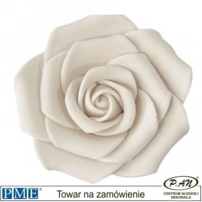 Cukrowa róża - biała- 6 szt.- 90mm- PME_JF611