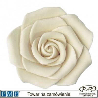 Cukrowa róża - biała- 6 szt.-62mm- PME_JR05W