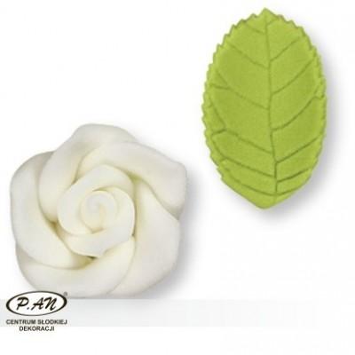 Cukrowa róża - biała- 30szt.-16mm- PME_PM133BW