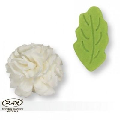 Cukrowa róża z listkami-5szt.-PME_PM142W