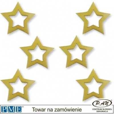 Złota gwiazda-6szt.- 30mm-PME_PM127G/S