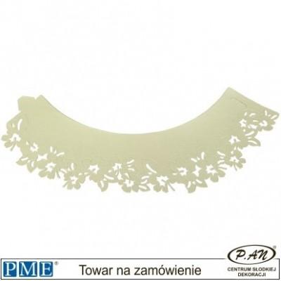 Dekoracyjne owijki- białe kwiatki - 12pcs-PME_CW911