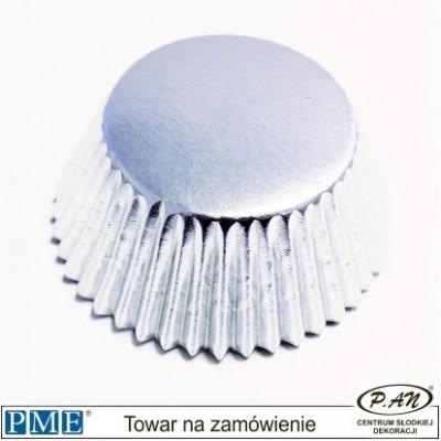 Metallic Baking Cases-silver-45pcs-PME_BC715