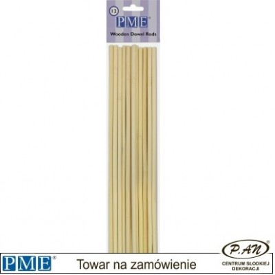 Drewniane patyczki-12 szt.-30 cm- PME_DR1007
