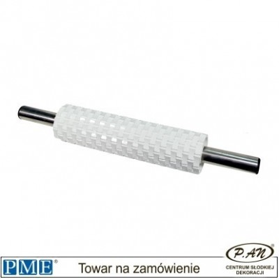 Basketweave rolling pin with handles-20''-PME_BW90