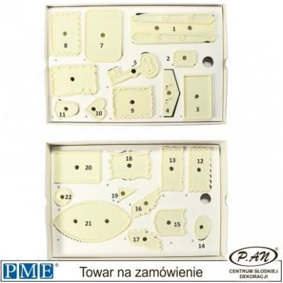 Plastic cutter-Plaques-17 pcs-PME_107P013