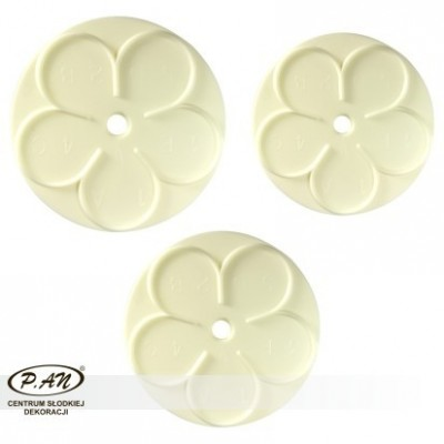 Plastic cutter- Rose-set of 4-PME_103FF029