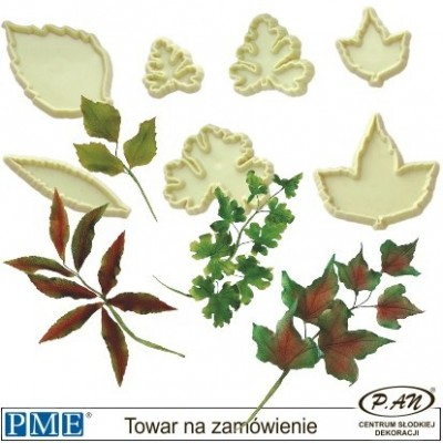 Plastic cutter-Mixed Leaves-set of 10-PME_103FF007