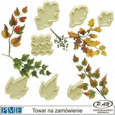 Plastic cutter-Mixed Leaves-set of 7-PME_103FF056