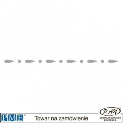 Szablon-Half Daisy-116x7mm-PME_SB6