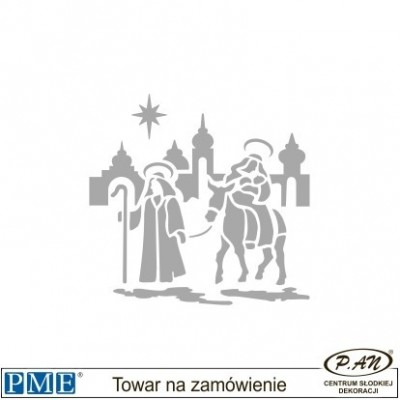 Stencils-Santa Sleigh-2.3x6''-PME_SCH15
