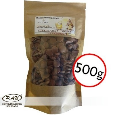 Milk-honey chocolate CALLEBAUT 500g CALLHONEY