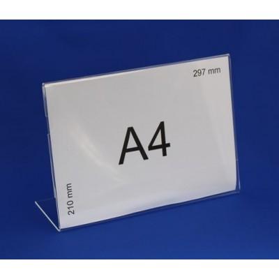 Stojak na pojedynczą ulotkę format A4 poziomo - SNUP29