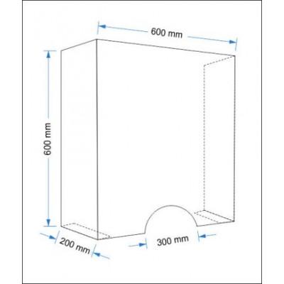 Stojąca osłona na ladę 60x60cm
