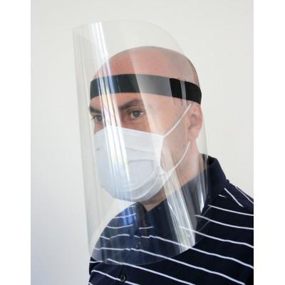 Wygodna, duża przyłbica ochronna na twarz z zapasową maską