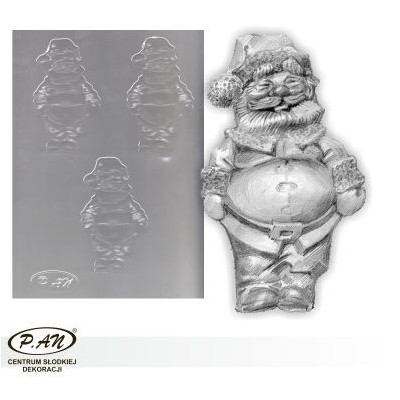 Flexible plastic moulds - Santa 13cm FP1028