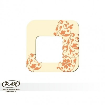 copy of Chocolate decoration - square 40 mm - DC102