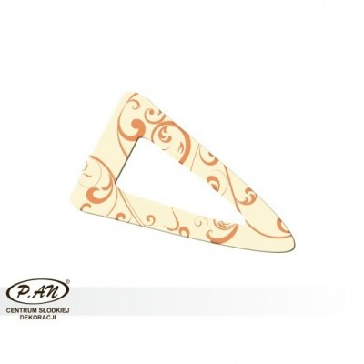 copy of Chocolate decoration - triangular 60 mm - DC106