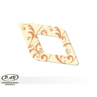 copy of Chocolate decoration - rhomb 60mm - DC108