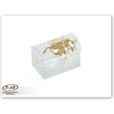 Skrzyneczka ze złota kokardką 70x45x52