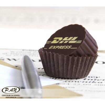 Folie z czekoladowym logo do wylewania