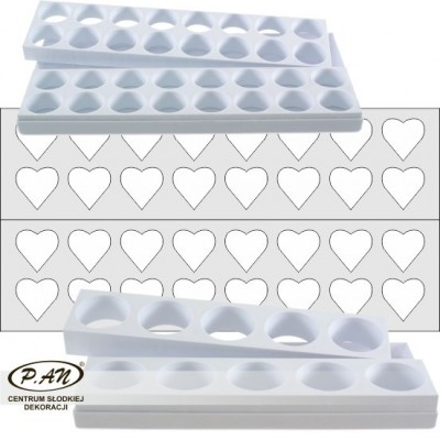 Petit-four moulds HEARTS small FBS04