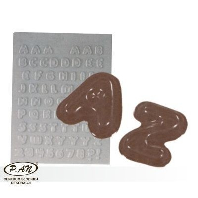 Flexible plastic moulds - Large numbers 12 cm
