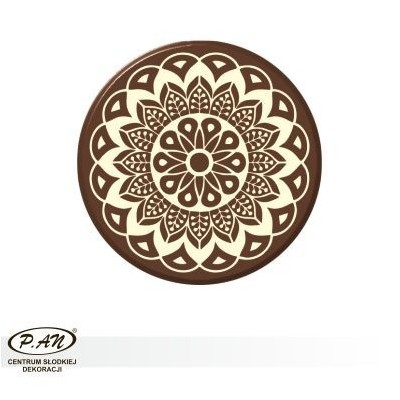 Chocolate decoration - round 40 mm - 50 pcs. - DCN203