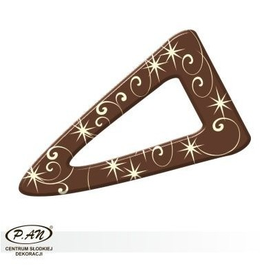 Chocolate decoration - triangular 60 mm - DC101
