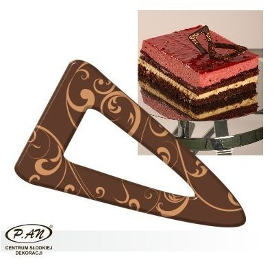 Chocolate decoration - triangular 60 mm - DC106
