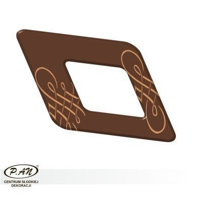 Chocolate decoration - rhomb 60mm - DC104