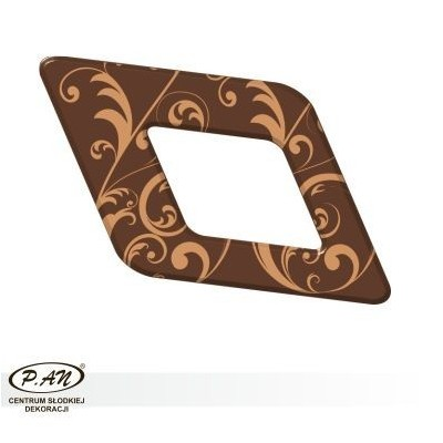 Chocolate decoration - rhomb 60mm - DC108