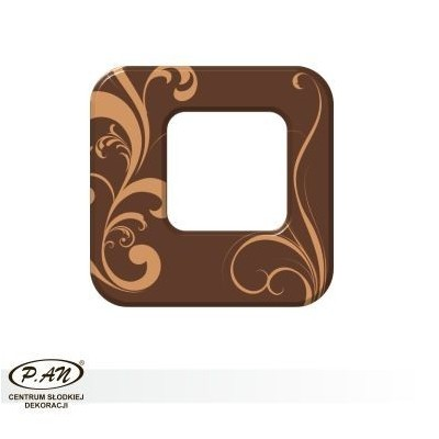 Chocolate decoration - square 40mm - DC107