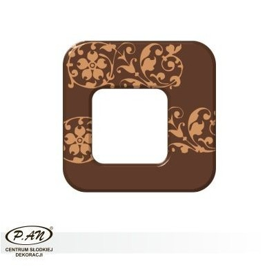 Chocolate decoration - square 40 mm - DC102