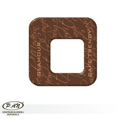 Chocolate decoration - square 40mm - DC109
