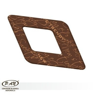 Chocolate decoration - rhomb 60mm - DC110