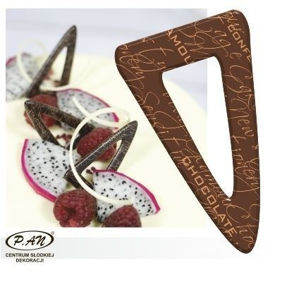 Chocolate decoration - triangular 60 mm - DC111