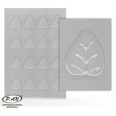 Plastic moulds for mini chocolate decorations FP3009