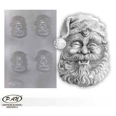 Flexible plastic moulds - Santa 8cm FP1009