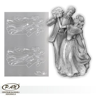 Flexible plastic moulds - Bride and groom 16cm FP1018