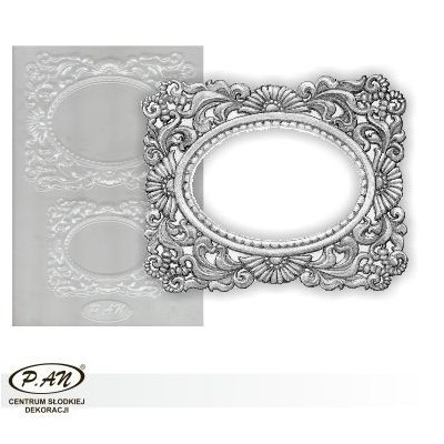 Flexible plastic moulds - Oval frames FP1021