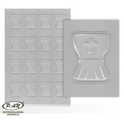 Plastic moulds for mini chocolate decorations FP3026