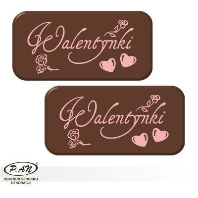 Valentine's Day plate 50x25mm DCN122