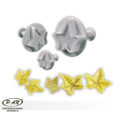 Plastic cutters - maple leaves small 3 pcs.