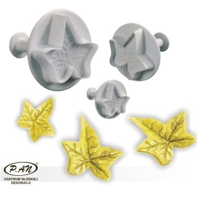 Plastic cutters - maple leaves big 3 pcs.